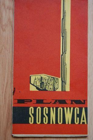 Plan miasta Sosnowca. Sosnowiec na planie z 1970 roku.
