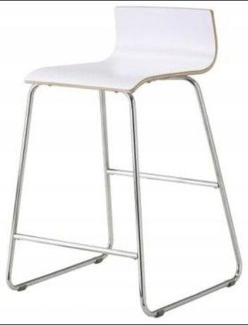 IKEA hoker krzesło barowe Sebastian białe 74