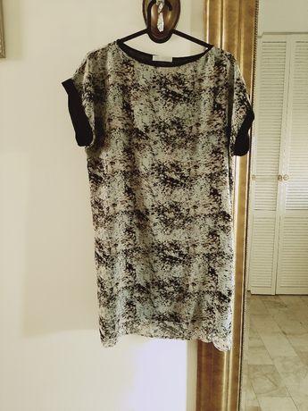 Beżowa brązowa sukienka Promod animal print