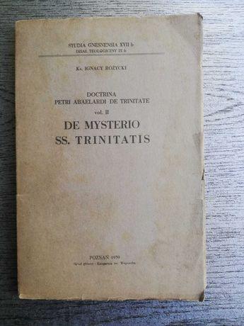 Różycki De Mysterio Trinitas O Trójcy Piotr Abelard scholastyka