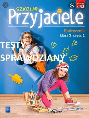 Książka Szkolni przyjaciele testy sprawdziany klasa 1 klasa 2 klasa 3