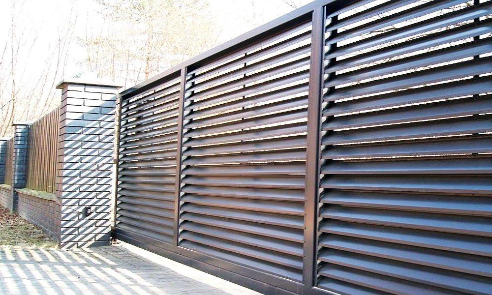 Паркан жалюзі, металеві паркани, огорожа, ранчо, штахет, профнастил