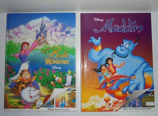 Livros antigos Disney A bela e o monstro / Aladdin Aladino