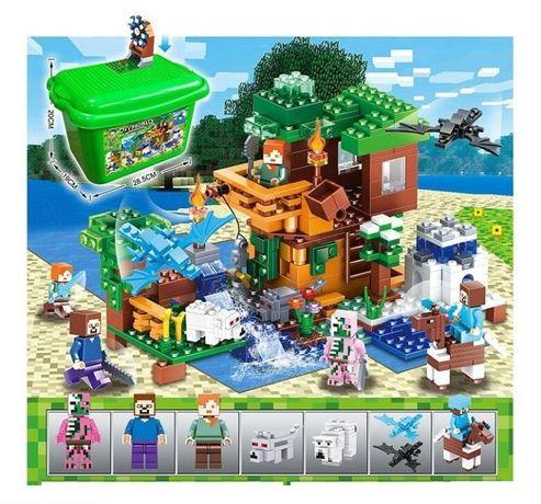 Майнкрафт Minecraft Конструктор в чемодане для лего Дом у ручья
