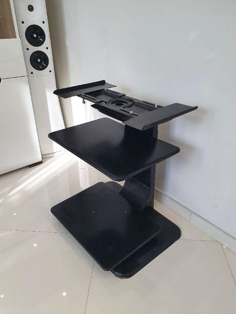 Stolik pod telewizor, czarny metalowy