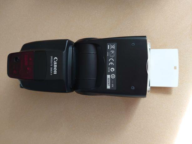 Lampa błyskowa Canon Speedlite 580EX II + dodatkowy zasilanie lampy