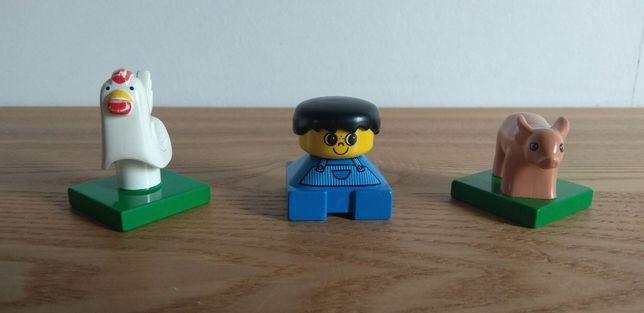 Lego Duplo - figurki - ludzik, świnia, kura