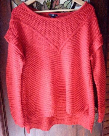 Sweter damski czerwony