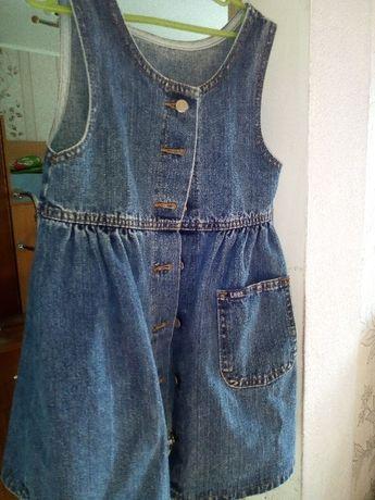 сарафан джинсовый 4-6 лет
