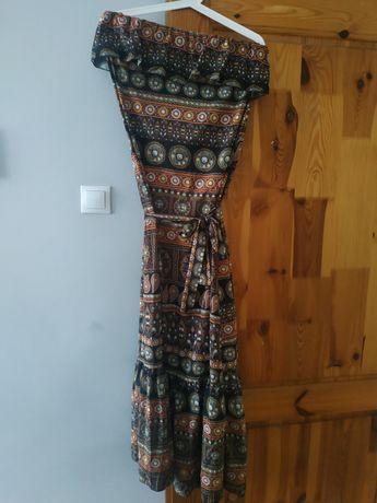 Sukienka maxi mosquito aztec