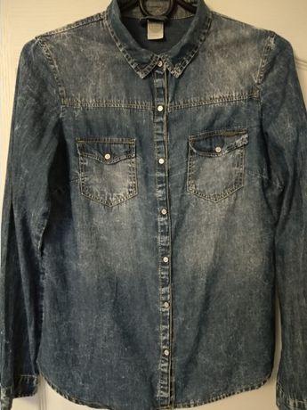 Koszule jeansowe 2szt Bershka r.36