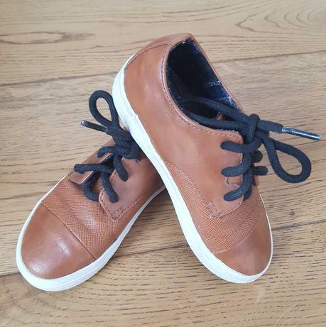 Buty chłopięce brązowe