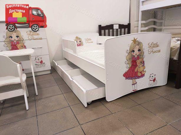Детская Кровать /Кровать для Ребенка / Кроватка для Девочки Рассрочка