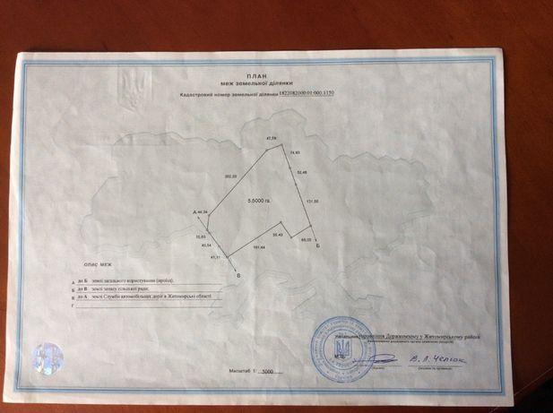 продажа земельного участка на развязке под Житомиром