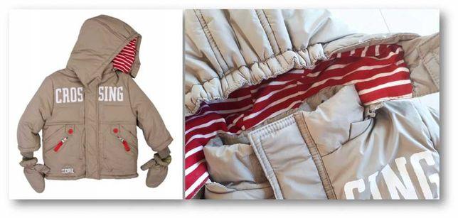Kombinezon dwuczęściowy coccodrillo kurtka spodnie rękawiczki