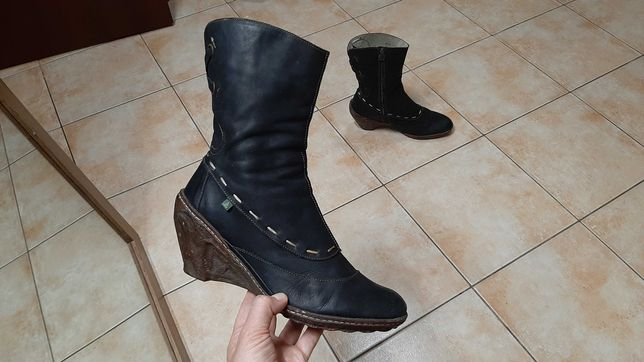 39-40р,25,5см,Кожаные сапоги,ботинки El Naturalista AMBAR