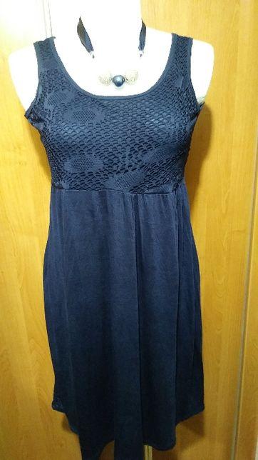 Tuniko-sukienka z siateczką na dekolcie, 44-46.