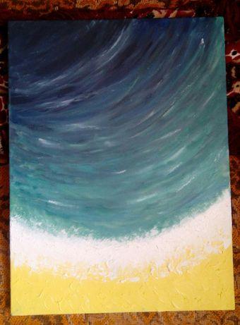 Картина масляними фарбами ''Пляж''