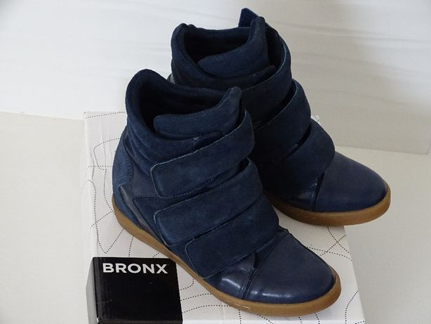 Wygodne sneakersy Bronx r.39/40 botki skóra