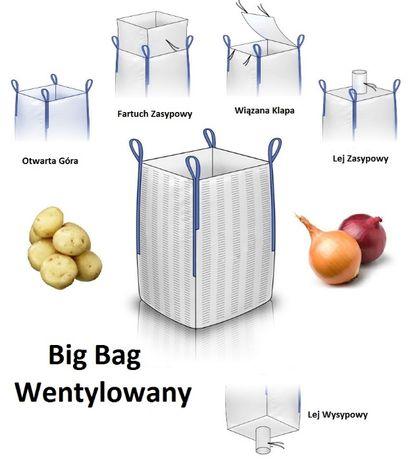 Worek Big Bag Uzywany do Drewna Warzyw Wentylowany Hurt!