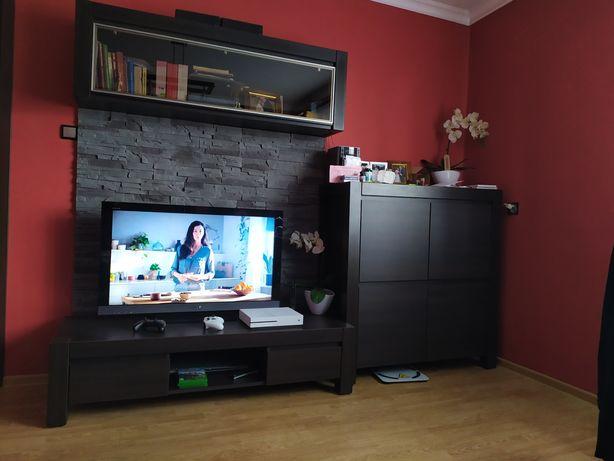 Meble komplet BRW August venge szafka RTV, komoda, półka