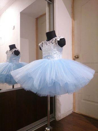 Нарядное детское платье юбка пачка пышное вечернее бальное снежинка
