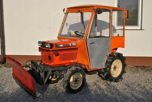 Traktorek Ogrodniczy Kubota B40 z Pługiem Kabiną i Glebogryzarką 4x4
