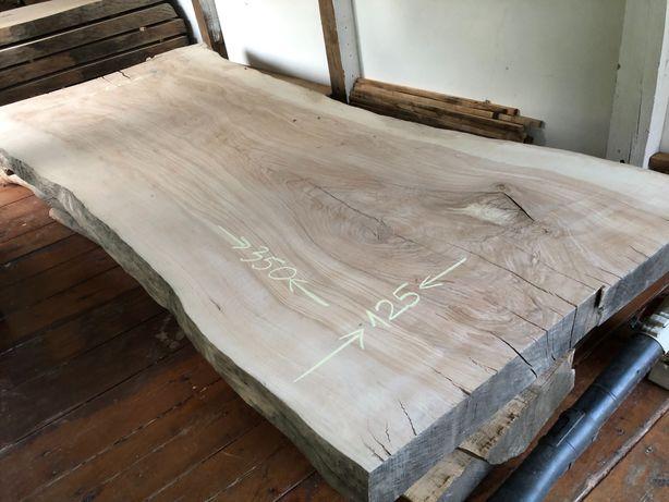 Stół blat monolit jesion wielki okaz 130/350