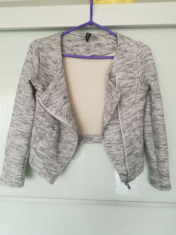 Sweterkowy żakiet blazer ramoneska