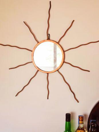 Espelho Dourado em ferro