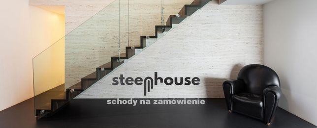 STEEPHOUSE Nowoczesne schody dywanowe industrialne stalowe