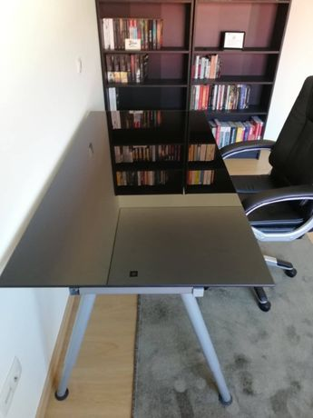 Mesa secretária vidro temperado