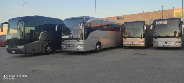 Przewóz osób, przewozy pracownicze, wynajem busa