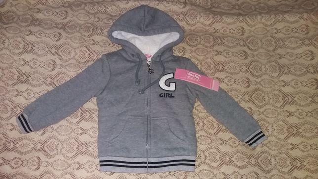 Теплая новая кофта-курточка на девочку  Gloria jeans, 2-3года