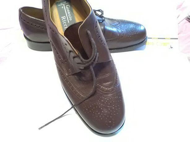 Туфли мужские модельные кожаные Италия -44,5 ( по стельке 28 - 28,5 см