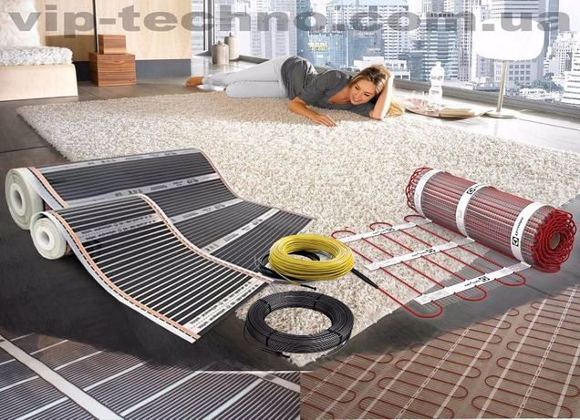 Теплый пол электрический Греющий кабель Инфракрасная пленка