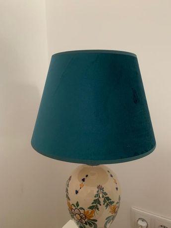 Abajur candeeiro de mesa azul, El Corte Inglês - NOVO