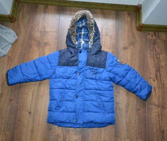 Kurtka chłopięca NEXT Niebieska zimowa ocieplana roz 104 104cm 3-4lata