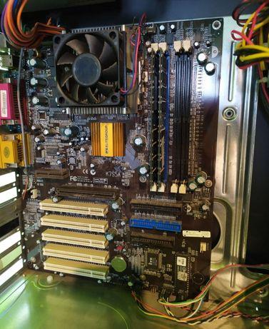 płyta główna ECS K7S5A, Athlon XP 2400+ oraz 1 GB DDR RAM