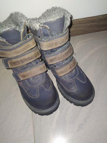 Buty zimowe kozaki Lasocki skórzane