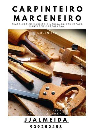 Marceneiro Carpinteiro todos tipos trabalho madeira roupeiro cozinha