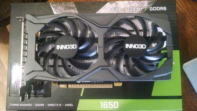 Inno3D GTX 1650 4GB GDDR6 (аналог gtx1060 rx570 rx580) с гарантией