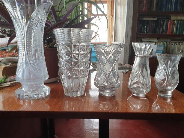 Ваза вазочки хрустальные хрусталь