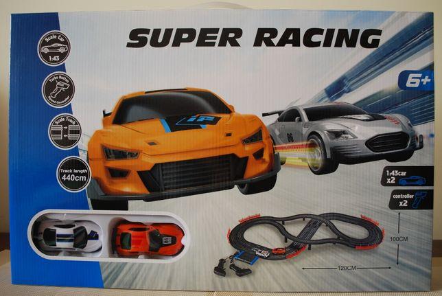 Tor wyścigowy - elektryczny - 2 auta, 2 piloty - NOWY !!!