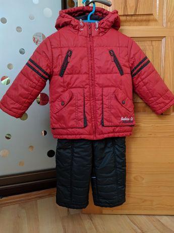 Зимний комплект от Бемби мальчику на рост 86