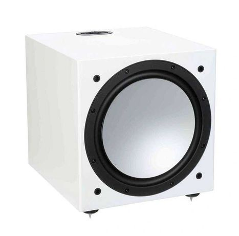 Monitor Audio Silver W12 Subwoofer aktywny White Gloss  Biel fortepian