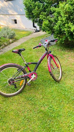 Rower dziewczęcy b'twin original 24 cale
