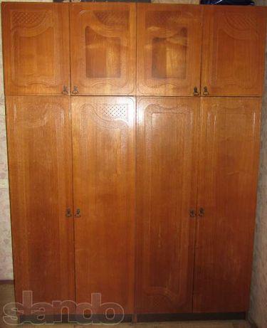 Шкаф для одежды из натурального дерева, дуб, 4-х створчатый