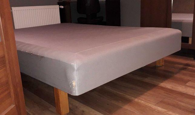 Łóżko materac IKEA 140x200 na ramie drewnianej - możliwy transport