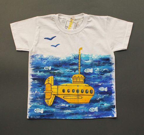 Дитяча футболка з розписом ручної роботи/ детская футболка